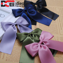 Buy 2piece classic solid korean style silk satin ribbon bows elastics rubber bands hair rope hair tie accessories women 20 color for $1.44 in AliExpress store
