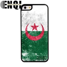 2015 New Products algeria flag Background pattern High quality Plastic Mobile Phone Bags protective case for iphone 5s cover