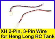 Heng Long Accessories XH 3-Pin wire & XH 2-Pin wire for Heng Long R/C Tank Replacement x 4 pcs(China (Mainland))