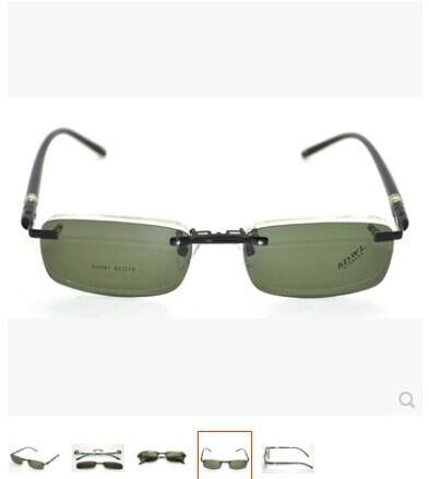 free shipping Location of tile myopia frame eyeglasses rimless polarized zonula coupon myopia 9091 eyeglasses frame(China (Mainland))