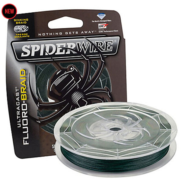 SpiderWire Brand ULTRACAST Series Fluorocarbon Sinking Fishing Line Braided 114M 125YD Moss Green Color Gore Fiber Fishing Wire(China (Mainland))