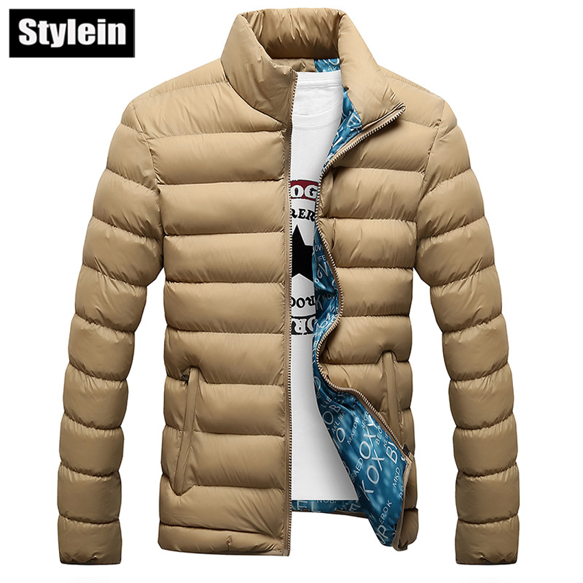 Fashion Men Jacket 2016 Winter Outwear Long Sleeve Padded Jacket Male Plus Velvet Thermal Padded Down Coat Large Size(China (Mainland))