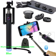 For iPhone 6 Plus/6/5S/5C/5/4S/4/For HTC ONE/For Motorala/For LG G3/G2 Wireless Rechargeable Bluetooth Self-portrait Monopod
