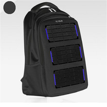 Original 8W 5V Solar Battery Charging Business Travel Backpacks Tourism Outdoor Climbing Solar Panel USB Output Charger Backpack(China (Mainland))
