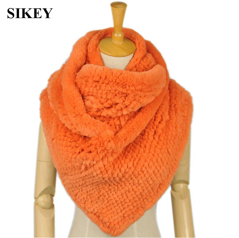 SCR027 Free shipping 100% real genuine rabbit fur colorful scarf women's winter warmer solid fashion scarves(China (Mainland))