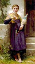 Canvas Paintings for living room The Spinner William Adolphe Bouguereau High quality Hand painted(China (Mainland))