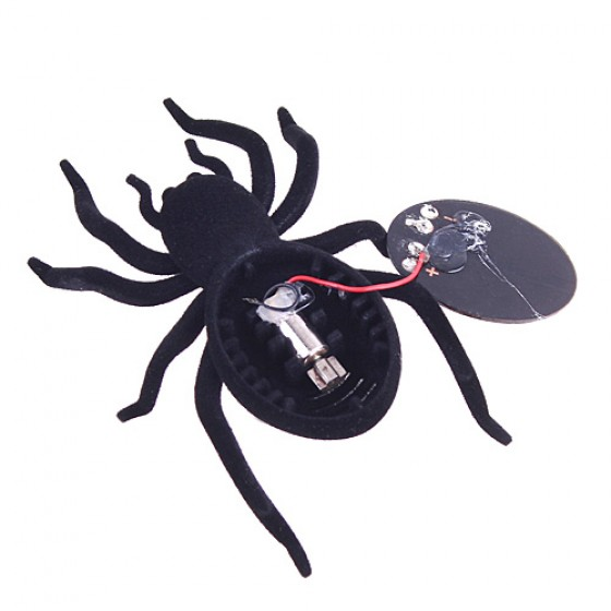 Robot Christmas Birthday gift Black 8 Legs Solar Spider Educational toys for children(China (Mainland))