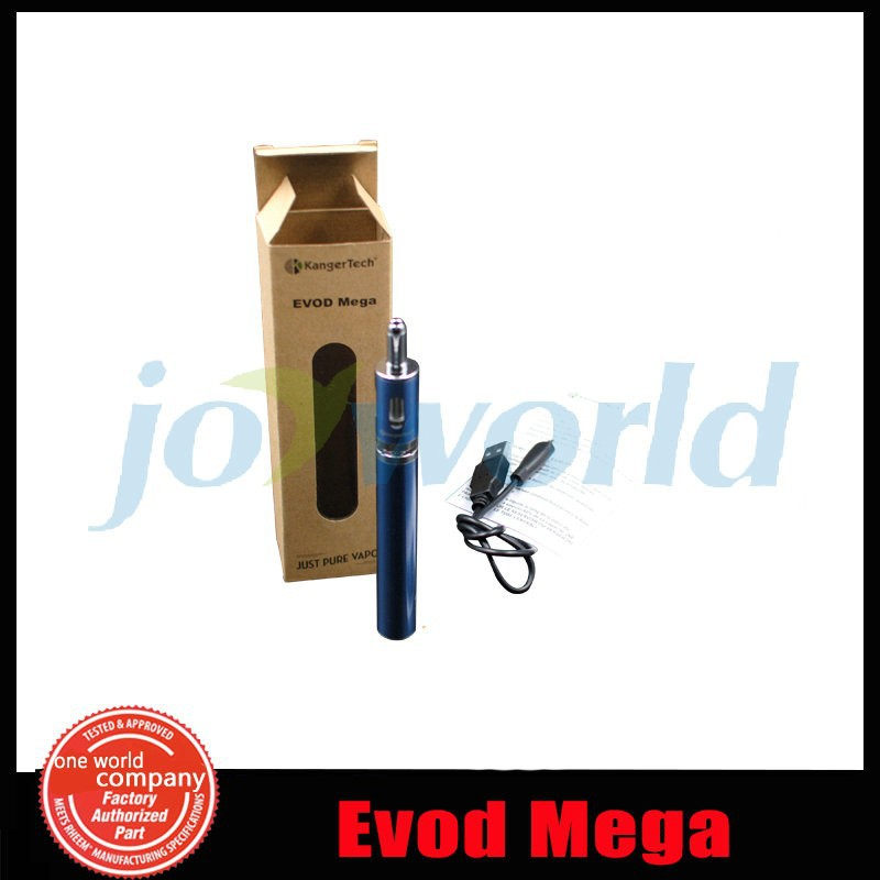 100% Original Kanger EVOD mega package Kangertech e cigarette Specific Package 1900mAh Evod Mega Battery Package with Evod Mega Atomizer( YY)