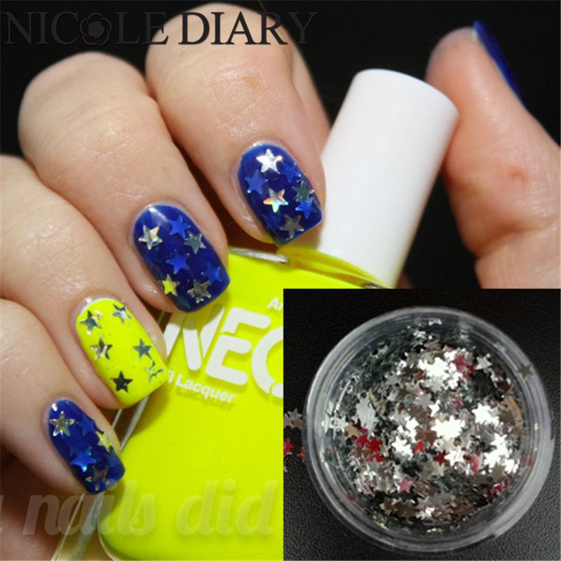 1 Box Nail Glitter Star Shiny Tiny Glitter Powder Sheets Tips Design Nail Decoration Nail Art Glitter 823679(China (Mainland))