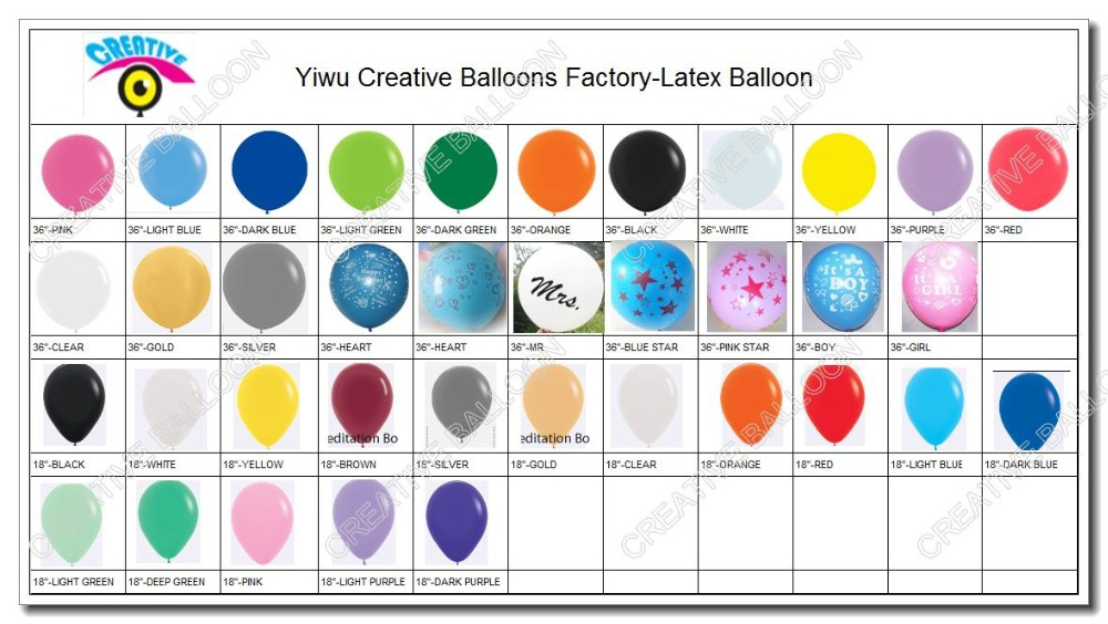 """Japanese Quality 10PCS/Lot 36"""" Round Latex Balloon 100% Natural Rubber Material Party Decoration Supplies Mix Color(China (Mainland))"""