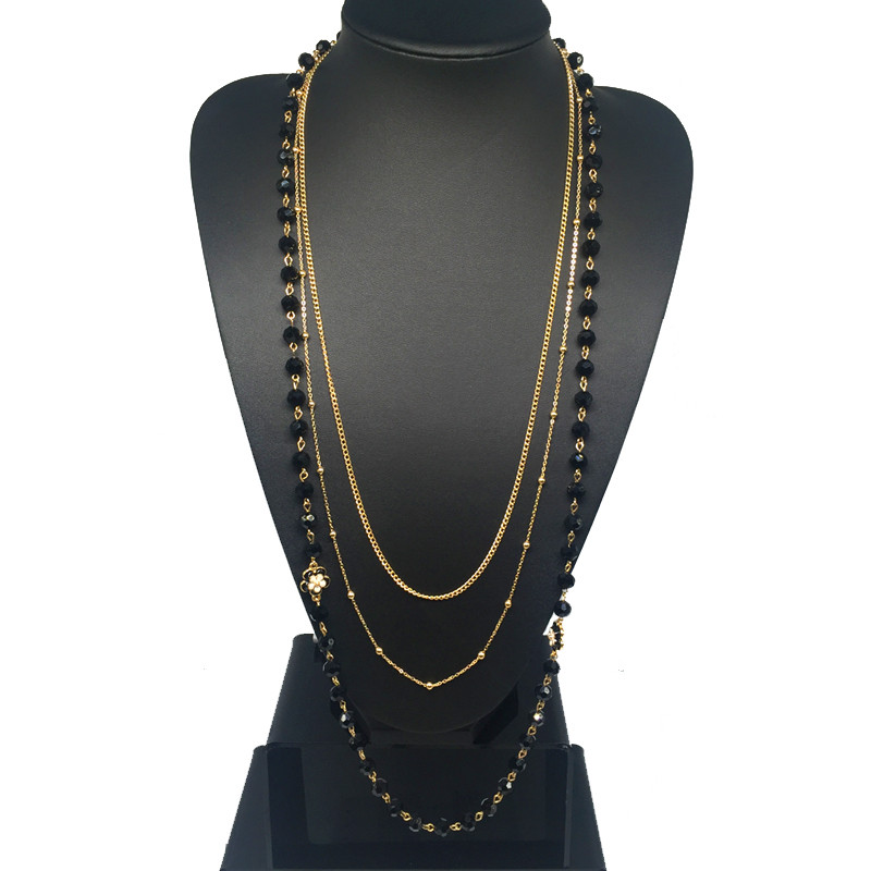 HTB1tvW8KpXXXXXHXFXXq6xXFXXXu - Black Simulated Pearl Jewelry Three Layer Thin Chain Long Necklace Women Collier Perle Bijoux/Collares Perlas Largos/Bijouterie