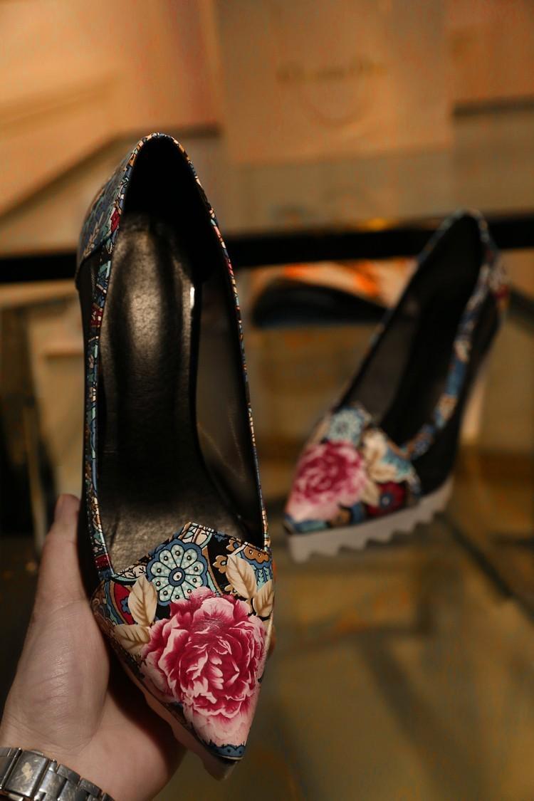 2015 9.5cm New Fashion Wedding Party Women Bottom High Heels Women