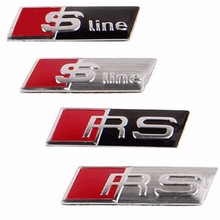 Buy 3D Car Sticker Sline RS Emblem Badge Decal Steering Wheel Window Dashboard Cover Audi A1 A3 A4 A5 A7 Q3 Q5 Q7 S3 S4 S5 S6 for $2.37 in AliExpress store