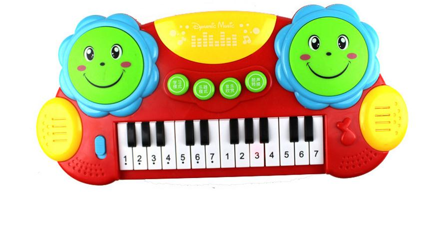 Sale Multifunctional Musical Light Hand Drum Baby Boys Girl Electronic Toys Kids Baby Piano Childhood Learning Toys(China (Mainland))