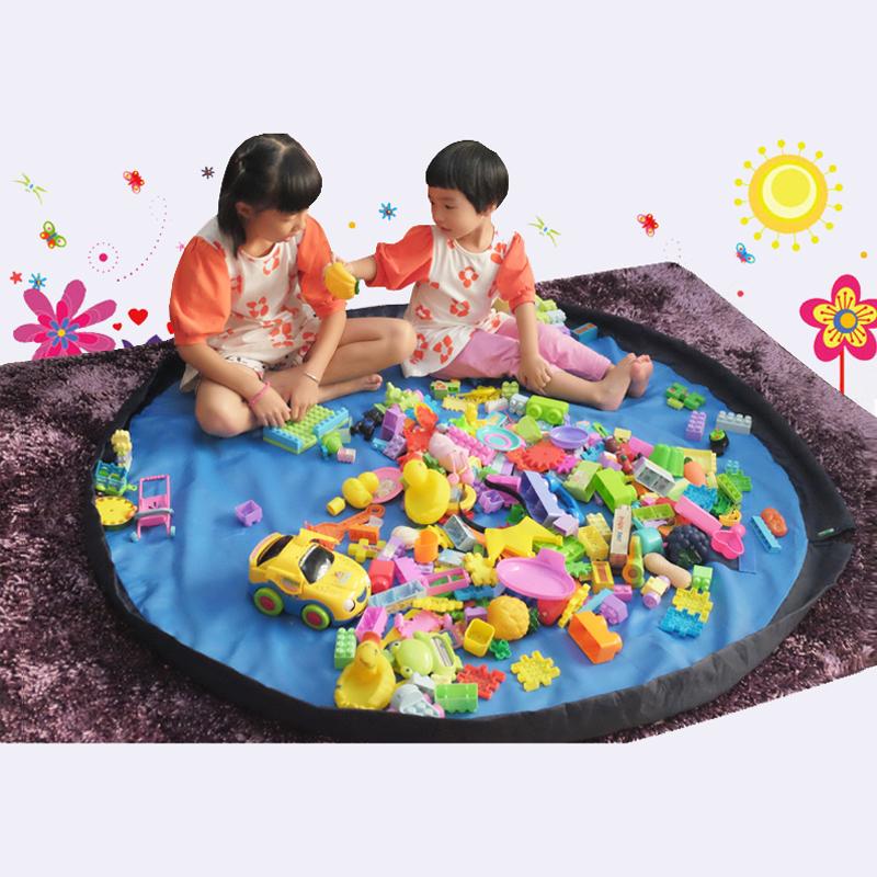 Portable Large Toy Storage Bag Organizer Rug For Legos Kid Play Mat blue&red Folding Eco-friendly Sundries 3 sizes(China (Mainland))