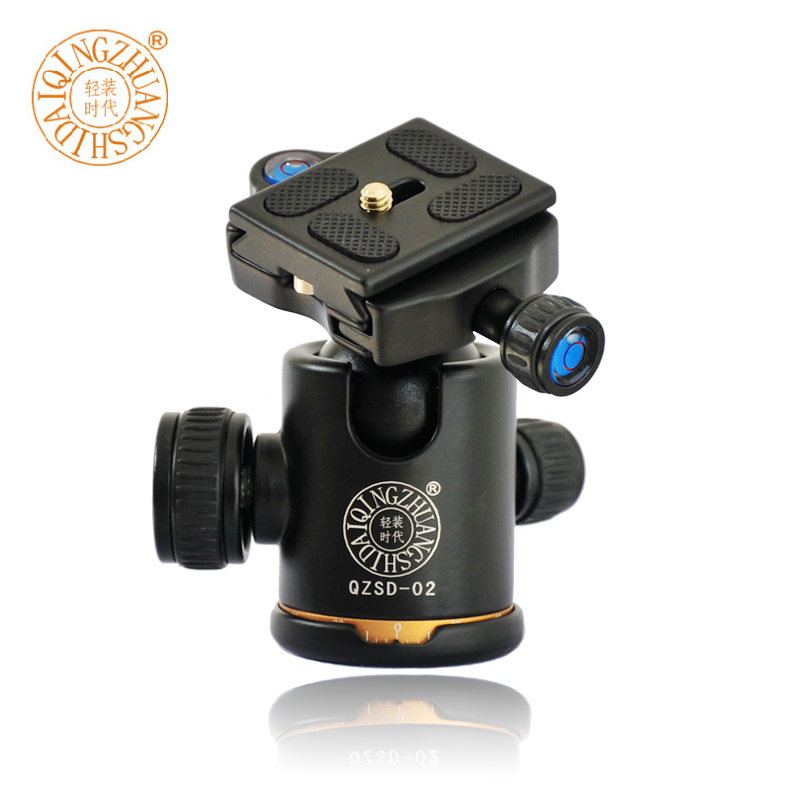 "QZSD Q02 Aluminum Camera Tripod Ball Head Ballhead With Quick Release 1/4"" Screw Plate For DSLR Camera Tripod(China (Mainland))"