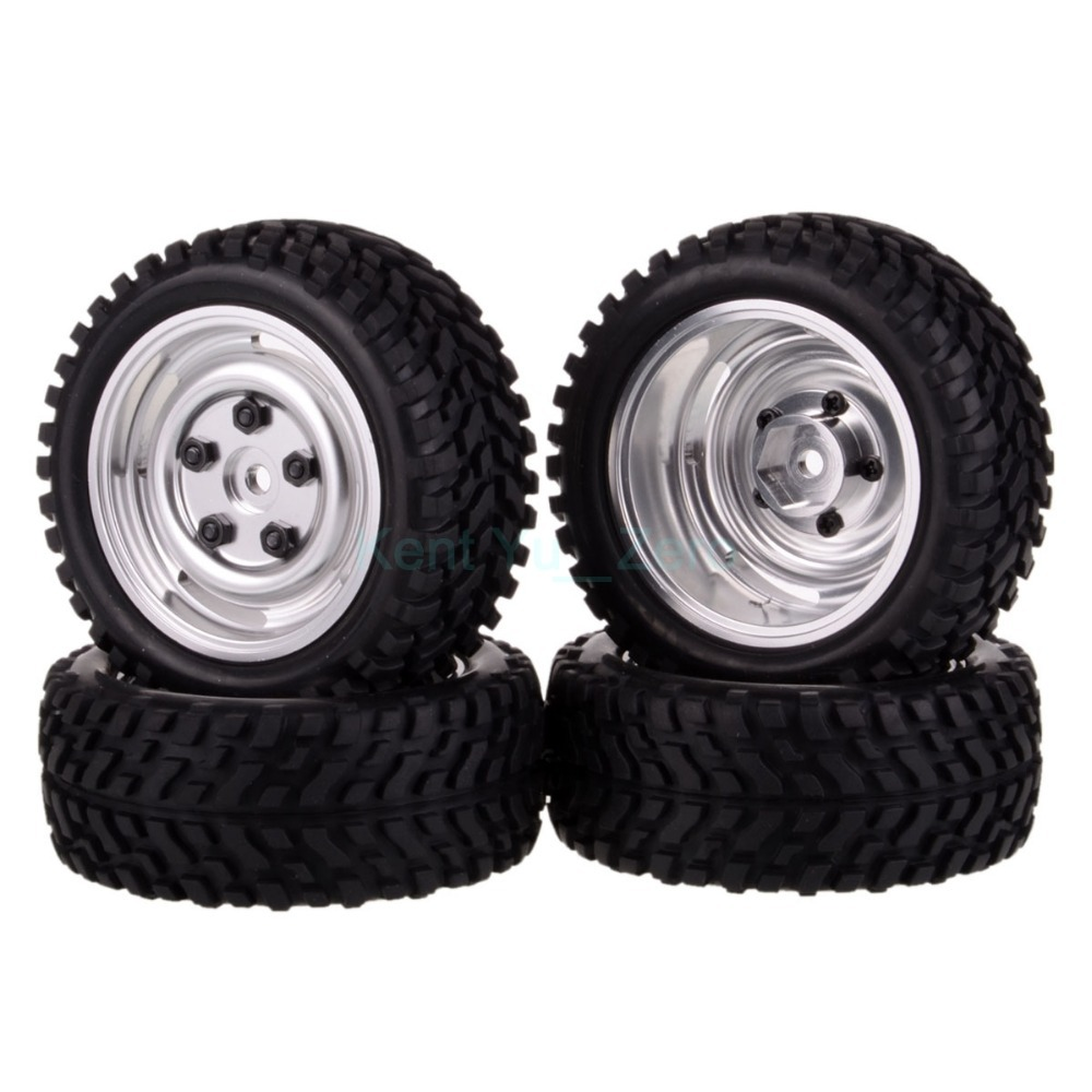 4PCS 12MM Hub HPI Redcat HSP Metal Wheel Rim &amp; Grip Rubber Tyre,Tires,For RC 1:10 Car On Road,104S-7004<br><br>Aliexpress