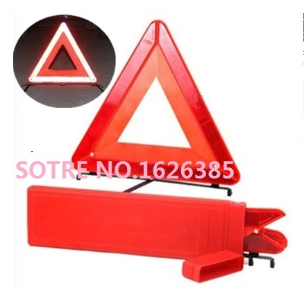 Free Shipping! Professional quality Red Orange Plastic Roadway Warning Reflecting Triangle Board Plate(China (Mainland))