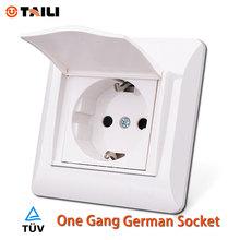Taili розетке ес стандартный розетке немецкий розетка с земли контакт с крышкой AC 110 ~ 250 В 16а розетка