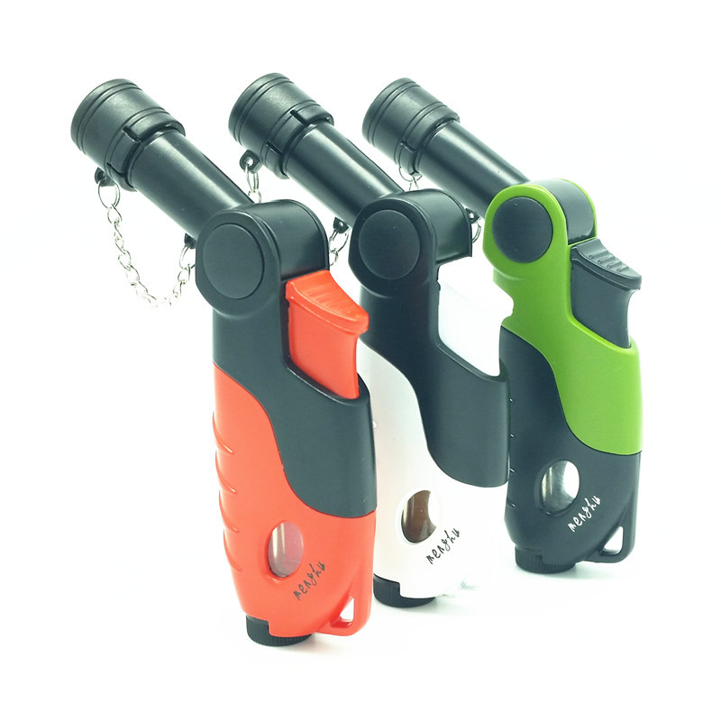 Windproof Butane Jet 1300 Torch Lighter with Strap - Random Color(China (Mainland))