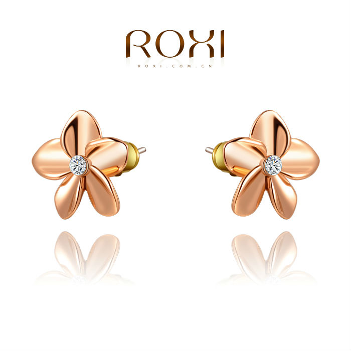 ROXI Free Shipping Star Stud Earrings Best Gift For Girlfriend Pure Handmade Fashion Elegance For Women Party Wedding 2020280150(China (Mainland))