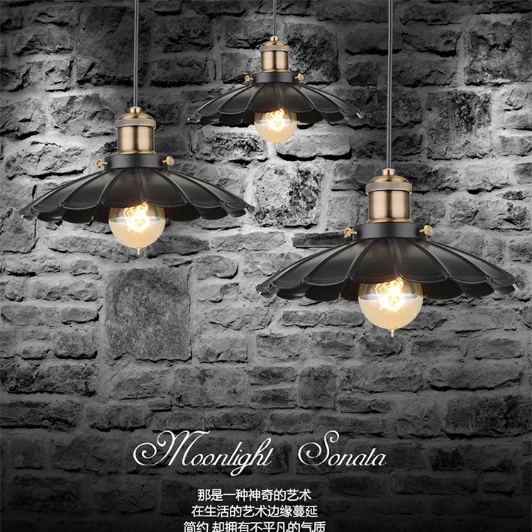 Фотография Retro Pendant Light Suspension Luminaire Iron Industrial Pendant Lights Retro Loft Lamp Suspension Luminaire E27 Edison Bulb
