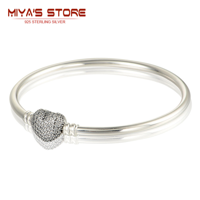 Heart Knot Bangle With Clear Cz Letter Always In My Hearts 925 Sterling Silver Bracelet For Women Lovers  2015 Trendy Ysz006<br><br>Aliexpress