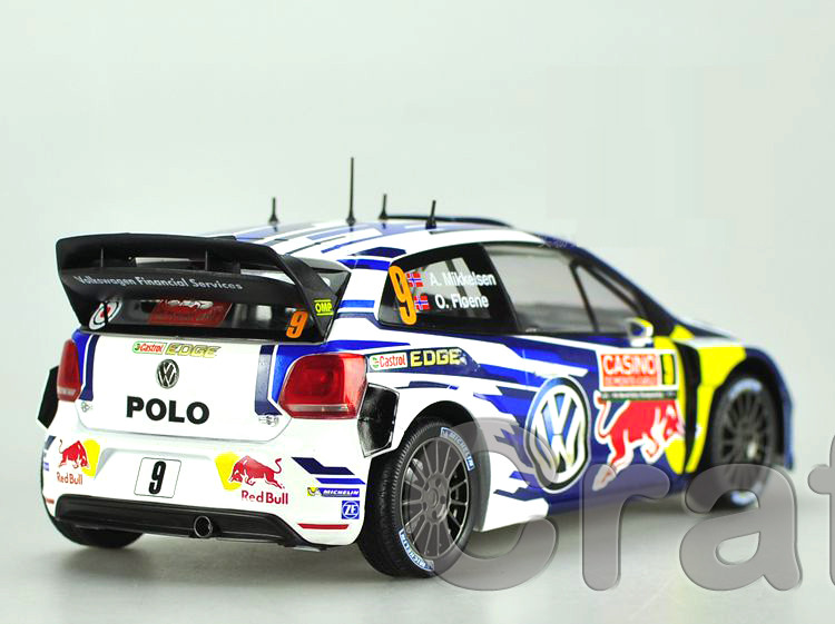 * Norev 1:18 Volkswagen POLO R WRC 9 Race Automotive Alloy Mannequin Diecast Modell Auto Scale Fashions A. Mikkelsen & O. Floene