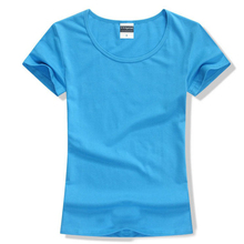 Free shipping Brand New fashion women t-shirt brand tee tops Short Sleeve Cotton tops for women clothing solid O-neck t shirt(China (Mainland))