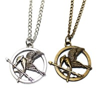 New Hungry Game Big Retro Punk Style Hunger Games Necklace Wee Acorn Logo Laugh Birds Parrot Birds Long Necklace Free Shipping