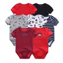 2019 7 шт./лот Одежда для новорожденных девочек одежда маленьких мальчиков хлопок Единорог гимнастический костюм Ropa bebe короткий рукав черный, ...(China)