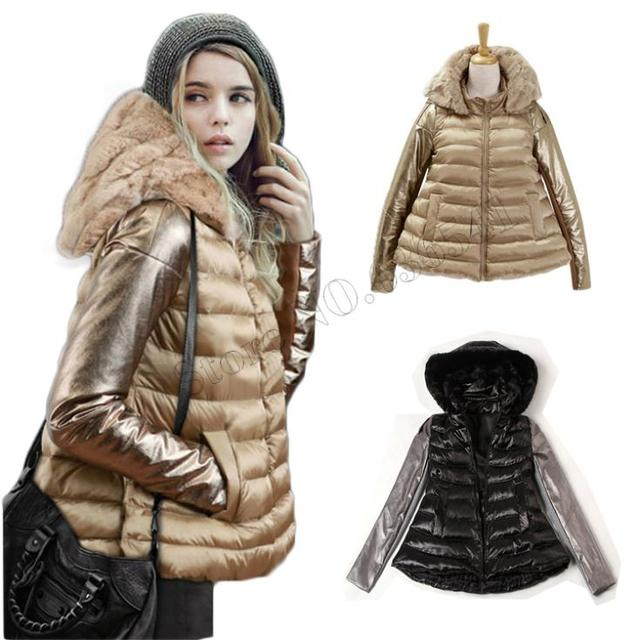 2015 Winter Jacket Женщины Luxury Стиль Winter Parkas Down Coat Ladies Real Rabbit ...