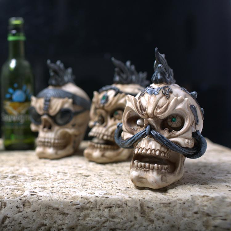 artesanato mini jardim : artesanato mini jardim:2015 mini artesanato de decoração crânio aleatória resina para DIY