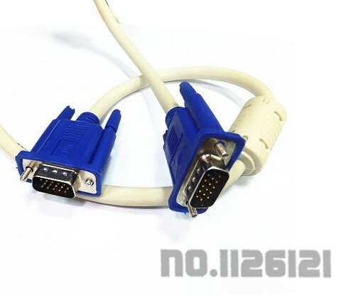 VGA extension cable male to female monitor projectors data cable 3M(China (Mainland))