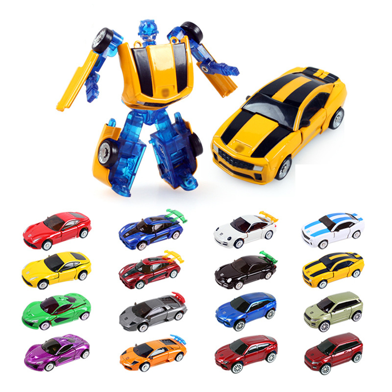 Durable 2015 hot sell children's toys alloy car model toy car deformed Free Shipping color randomly sent High Quality(China (Mainland))