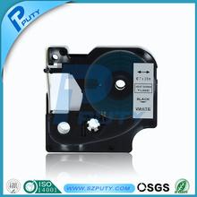 5pcs Dymo label tape 7mm black on white heat shrink tube tape compatible rhino tape