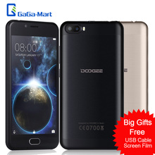 """Buy DOOGEE SHOOT 2 Smartphone MTK6580A Quad-core 1.3GHz Android 7.0 1GB+8GB 3360mAh Fingerprint 5.0"""" Inch 3G WADMA Mobile Phone for $59.99 in AliExpress store"""