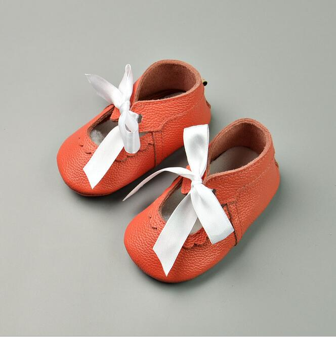 New design Handmade Genuine Leather  baby shoes with ribbon Toddler white  lace-up baby moccasins Shoes for kids<br><br>Aliexpress