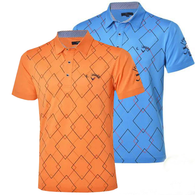 New mens short-sleeve sport Golf clothes fashionable Dobby Golf T-shirt S-XXL 5 colors in choice Golf clothes Free shipping<br><br>Aliexpress