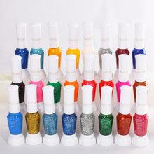 24 Color two-way Nail Art Pen &Brush UV Gel Nail Polish For Beauty  Free shipping(China (Mainland))
