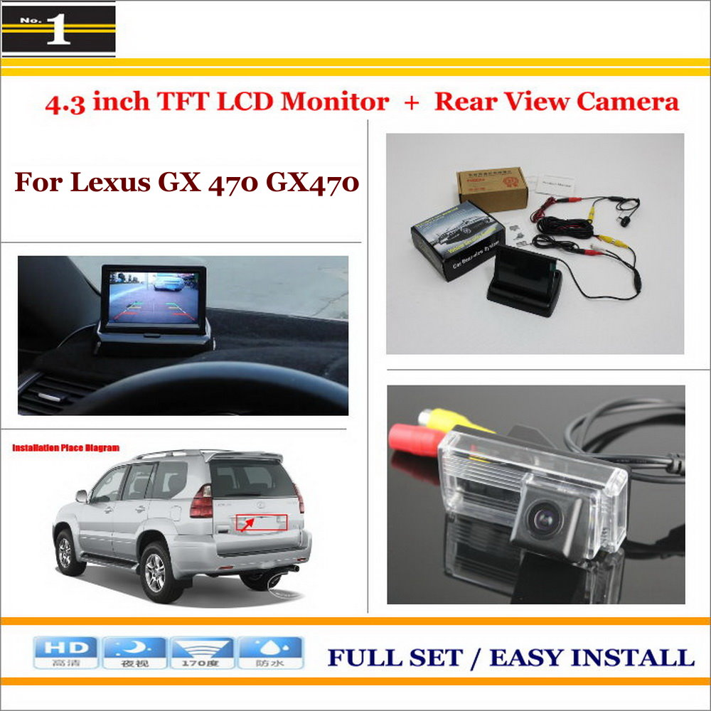 "Фотография For Lexus GX 470 GX470 - Car Rearview Camera + 4.3"" LCD Screen Monitor = 2 in 1 Parking Assistance System"