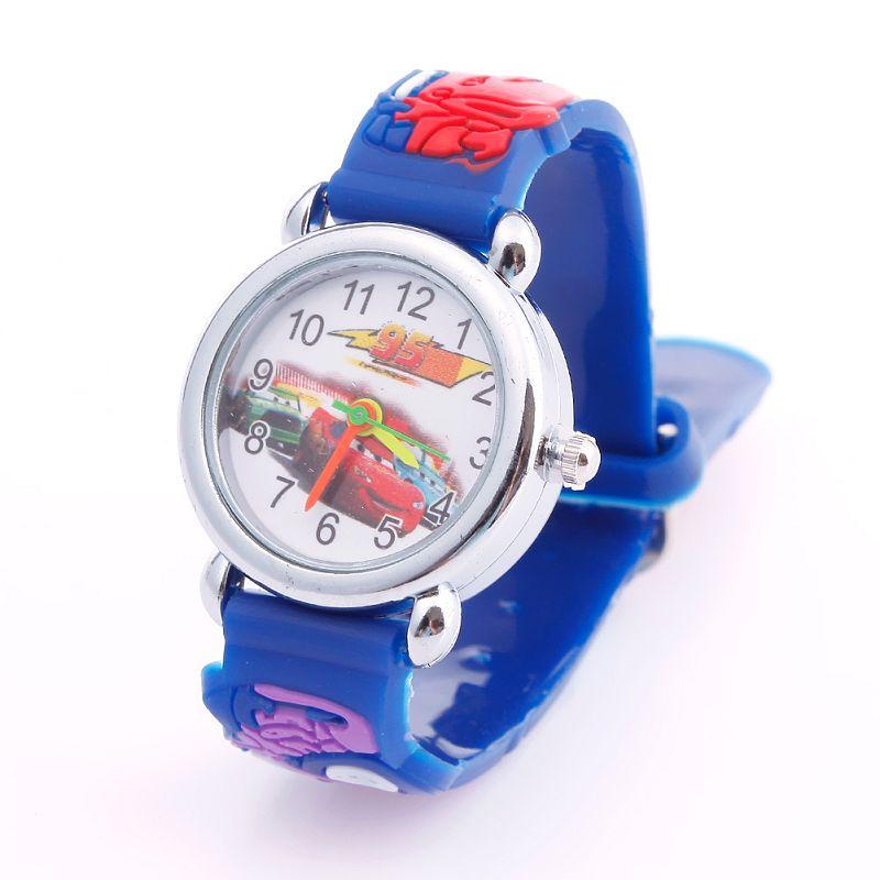 Cartoon 3D Car Blue Child Boys Kids Girls Analog Quartz Wrist Watch Rubber Watches#63521(China (Mainland))