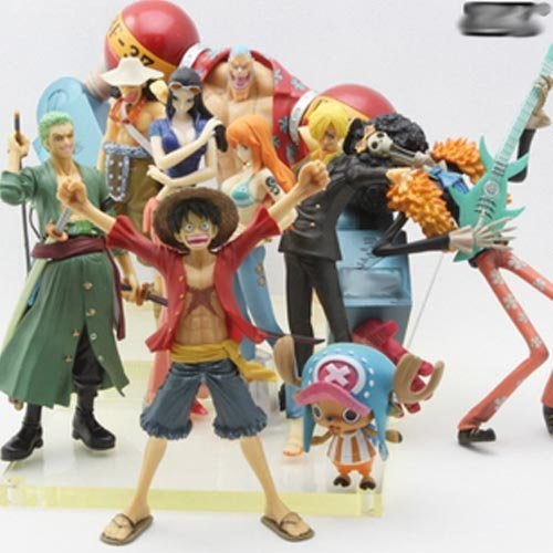 free shipping japan anime one piece tow years later 9pcs pvc figure set  b1467