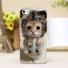 pz0012-29 cute cat Design Customized cellphone transparent cover cases iphone 4 5 5c 5s 6 6plus Hard Shell - hungryfu store