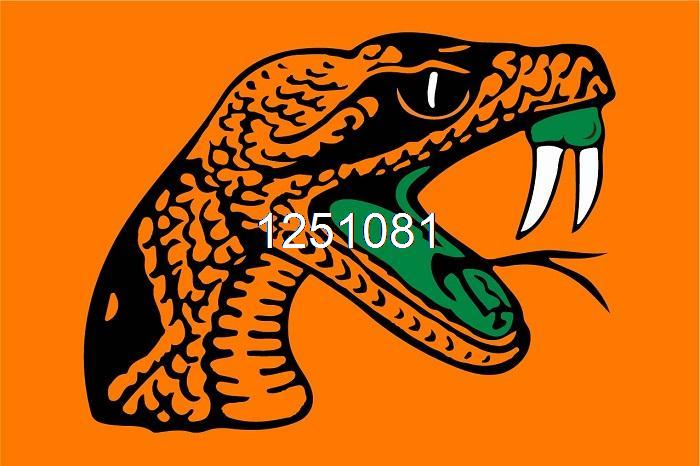 FAMU Rattlers Flag 3ft x 5ft Polyester NCAA Banner Florida A&M Rattlers Flying Size No.4 144* 96cm Custom flag(China (Mainland))