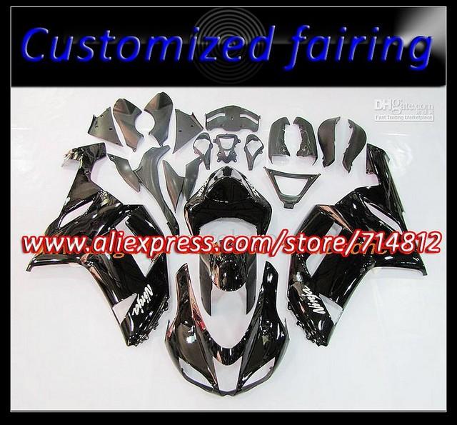ABS Plastic fairing kit for KAWASAKI ZX6R 07 08 ZX 6R 2007 2008 Free gift Windscreen# EMS Free Ninja