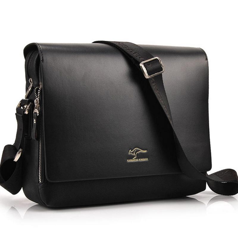 dollar 2016 fashion brand leather men shoulder bag, High Quality Brand New, Authentic Kangaroo bags, men's business bag(China (Mainland))