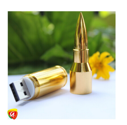 Free Shipping Silver/Gold Metal Bullet Shape Genuine usb Flash drive Pendrives 2GB 4GB 8GB 16GB 32GB Disk Memory Sticks USB 2.0(China (Mainland))