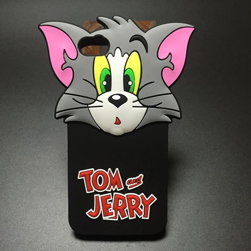 Cute 3D Cartoon Cat TOM & Mouse Jerry Soft Silicone Case For iPhone 5 5C 5S 5SE 6 6S 4.7″ 6 6S plus 5.5″ Rubber Phone Cover