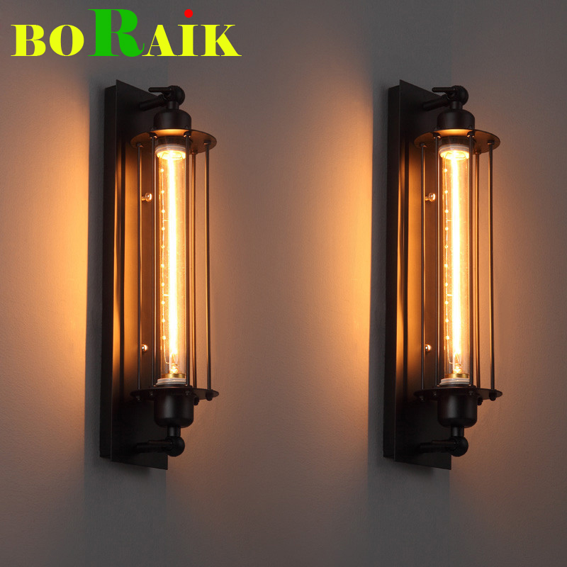 Loft Vintage Wall Lamps American Industrial Wall Light Edison Light 40W E27 Bedside Wall Fixtures Home Decoration Lighting(China (Mainland))